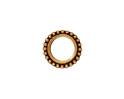 TierraCast Antique Gold (plated) 8mm Round Bead Frame 14mm