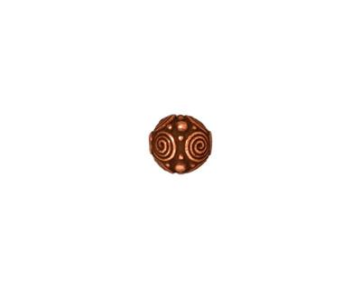 TierraCast Antique Copper (plated) Spirals Round 8mm