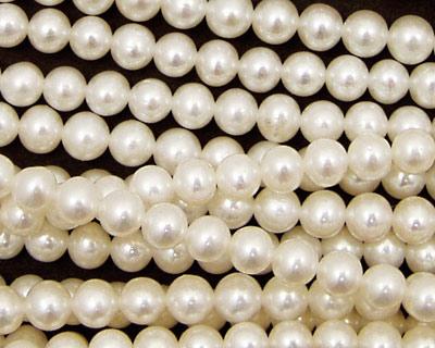 Pearly White Semi-Round 4.5-5mm