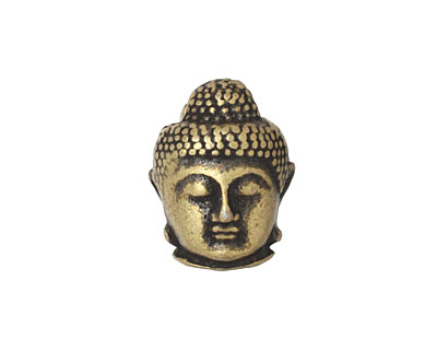 Antique Brass (plated) Buddha Magnetic Clasp 20x16mm