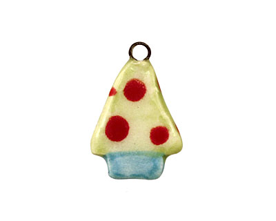Jangles Ceramic Lime Tree Charm 16-19x21-24mm