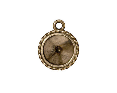 TierraCast Antique Brass (plated) Twisted Round Frame 16x20mm