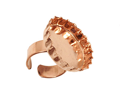Copper Adjustable Ring Bottle Cap Bezel 29mm