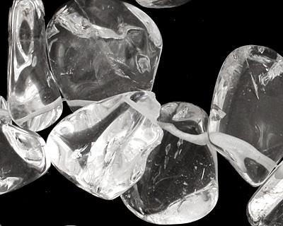Rock Crystal Tumbled Nugget Drop 16-24x19-30mm