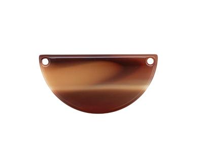 Zola Elements Brown Sugar Acetate Half Circle Link 30x15mm