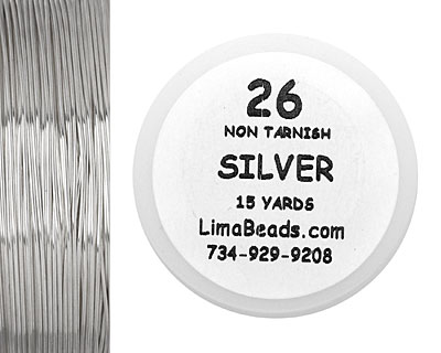 Parawire Non-Tarnish Silver 26 Gauge, 15 Yards