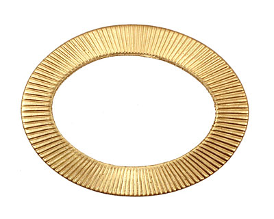 Brass Corrugated Oval Connector 38x28mm