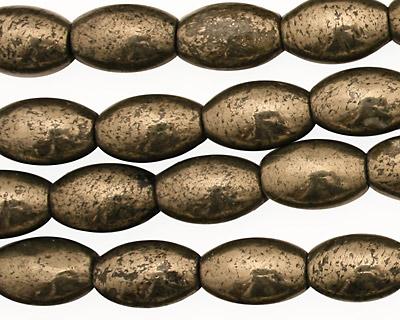Golden Pyrite (silver tone) Rice 12x8mm