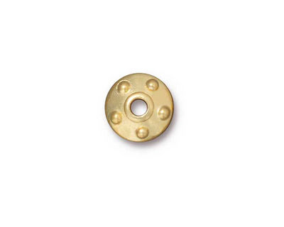 TierraCast Gold (plated) Large Hole Rivet Bead Cap 4x11mm