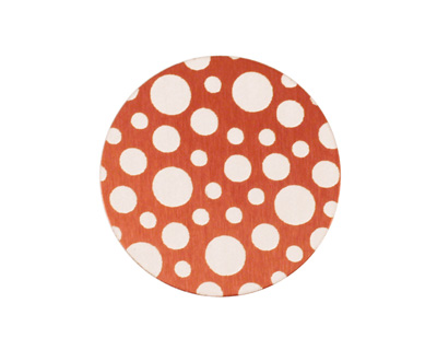 Lillypilly Bronze Scattered Dots Anodized Aluminum Disc 25mm, 24 gauge