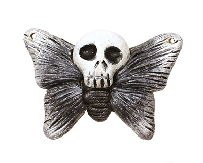 Poison Tree Polymer Clay Grey Death Poetry Butterfly 35-36x26-27mm