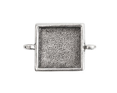 Nunn Design Antique Silver (plated) Small Square Bezel Link 28x18mm
