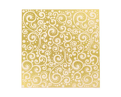 Lillypilly Gold Scrolling Vine Anodized Aluminum Sheet 3