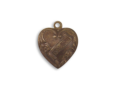 Vintaj Natural Brass Affectionate Heart 18x16mm