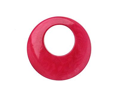 Tagua Nut Hot Pink Gypsy Hoop 25mm