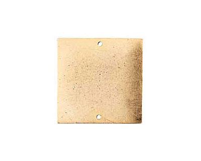 Nunn Design Antique Gold (plated) Flat Grande Square Tag Link 31mm