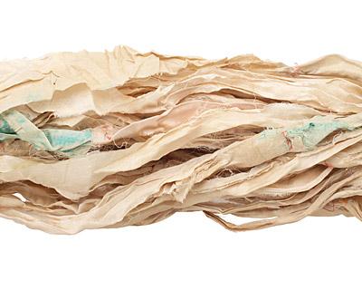 Ivory 100% Silk Sari Ribbon