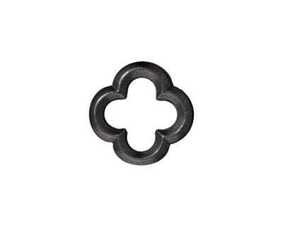 TierraCast Gunmetal Medium Quatrefoil Link 16mm