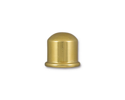 TierraCast Gold (plated) Cupola 10mm Cord End 12x13mm