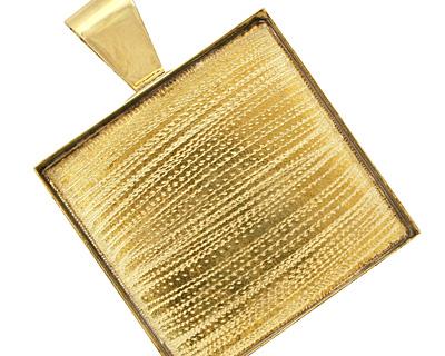 Brass Square Bezel 39mm