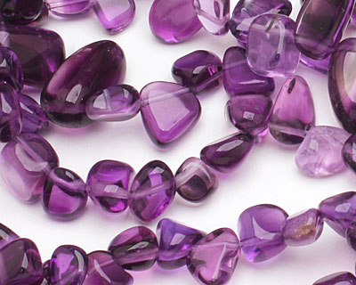 Amethyst Tumbled Nugget Drop 8-10x8-16mm