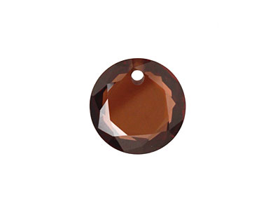 Coffee Faceted Coin 16mm