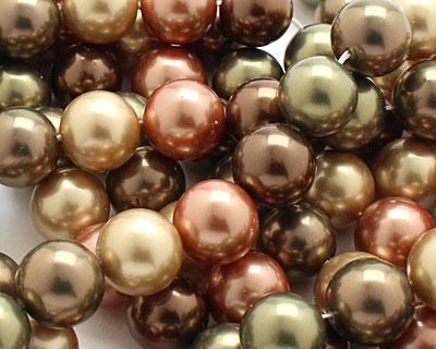 Harvest Shell Pearl Mix Round 14mm