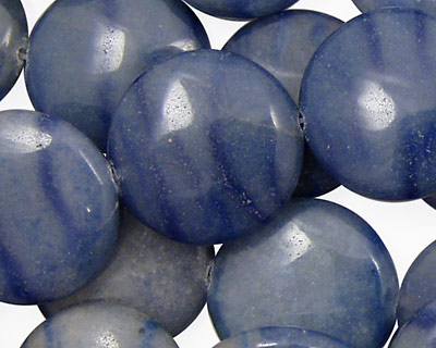 Blue Water Jasper Puff Coin 20mm