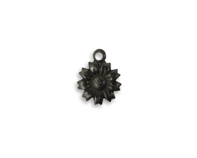 Vintaj Arte Metal Tattered Daisy Charm 10x13mm