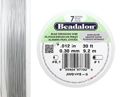 Beadalon Satin Silver .012