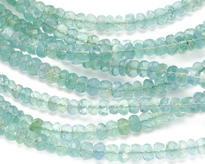 Green Fluorite Faceted Rondelle 4-5mm