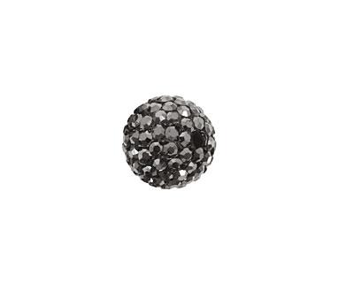 Jet Hematite Pave Round 12mm (1.5mm hole)