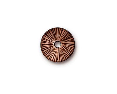 TierraCast Antique Copper (plated) Large Hole Radiant Bead Cap 3x13mm