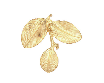 Ezel Findings Gold (plated) Camellia Leaves Pendant 27x24mm