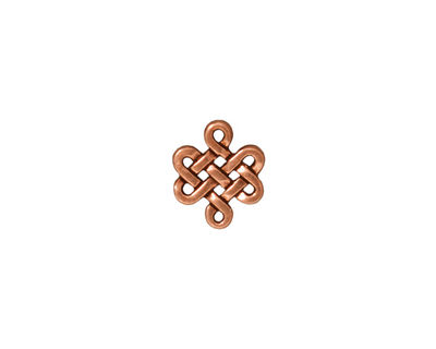 TierraCast Antique Copper (plated) Small Eternity Link 11x10mm
