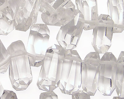 Rock Crystal Faceted Stick Drop
