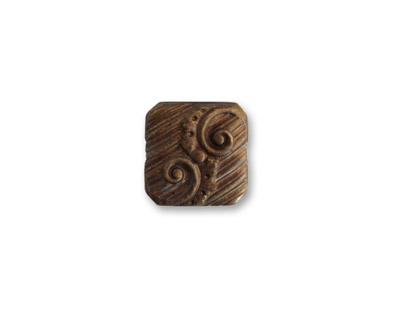 Vintaj Natural Brass Swirling Button Decorivet 7mm