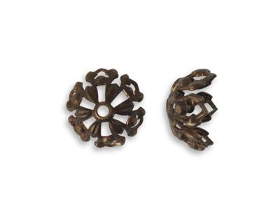 Vintaj Natural Brass Tapestry Bead Cap 12.7mm