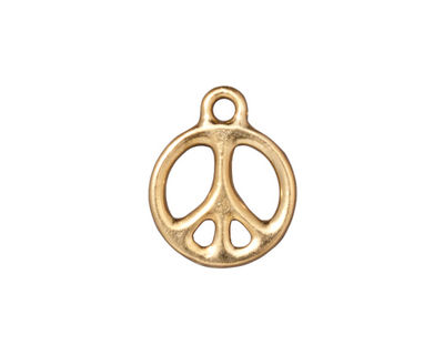 TierraCast Gold (plated) Peace Charm 15x19mm