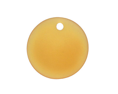 Amber Recycled Glass Concave Coin 24mm