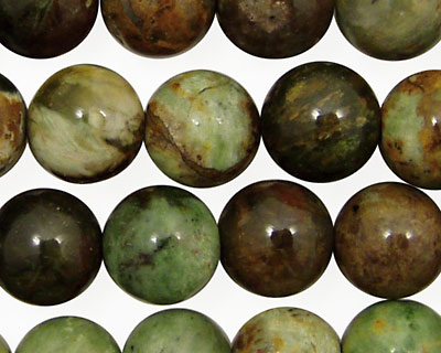 Petrified Green Opal Round 12mm