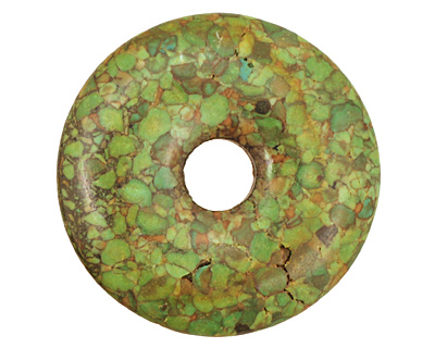 Green Mosaic Magnesite Donut 45mm