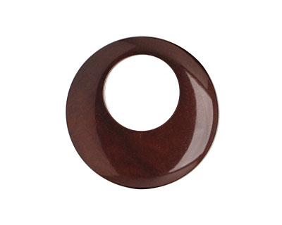 Tagua Nut Espresso Gypsy Hoop 25mm