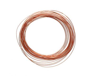 Soft Flex Non-Tarnish Copper Half Round Craft Wire 21 gauge, 7 yards