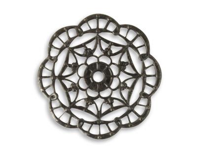 Vintaj Arte Metal Kaleidoscope Filigree Pendant 28mm