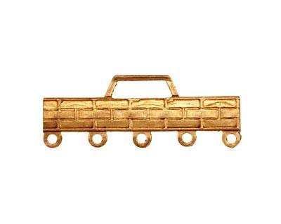 Brass Basket Weave Bar 1-5 Link 12x32mm