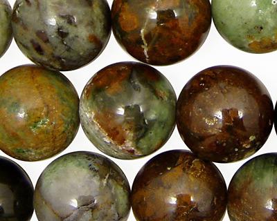 Petrified Green Opal Round 16mm
