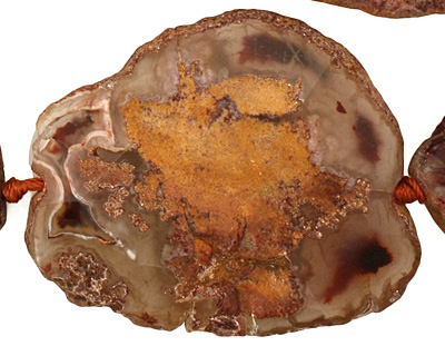 Rustic Orange Agate Natural Edge Freeform Faceted Slab 50-71x32x49mm