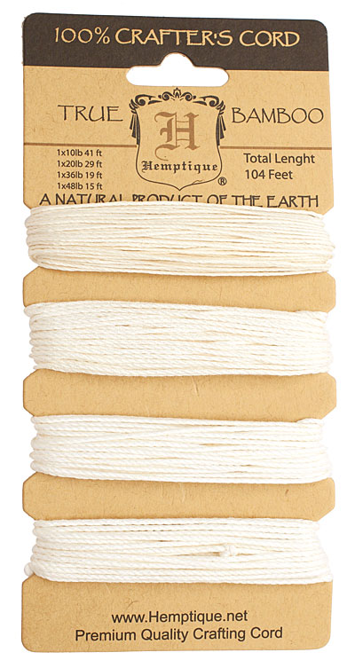 Natural Bamboo Cord Multi-Weight, 104 feet