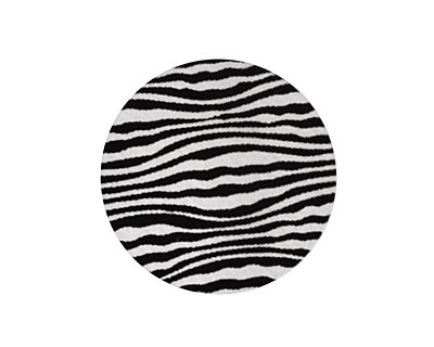 Lillypilly Black Zebra Anodized Aluminum Disc 25mm, 22 gauge